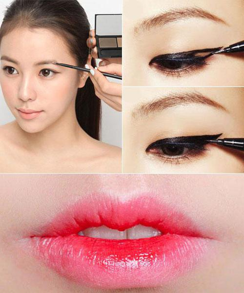 Корейский макияж для европейских глаз